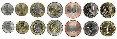 ANGOLA FULL COIN SET 50 Centimos 1+5+10+20+50+100 Kwanzas 2012-2015 UNC LOT of 7
