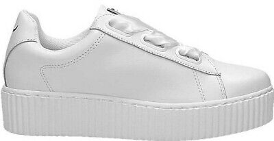 ORIGINALI WINDSOR SMITH OLYVIA WHITE RACERR CREEPER Sneakers BIANCA scarpe donna