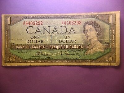 Canada  One Dollar 1954 - Devil Face