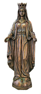 Our Lady Of Sorrows Triptych Statue, Cold-Cast Bronze, 11""