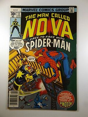 The Man Called Nova #12 Guest Starring Spider-Man!! Beautiful NM- Condition!!
