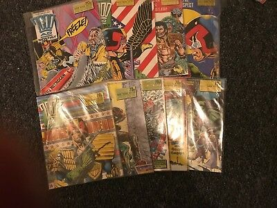 9 x Best of 2000AD Monthly Feat' Judge Dredd Issue 31,32,33,34,35,36,37,38, & 39