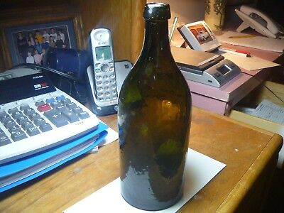 Carlsbad Black Glass Bottle, Mineral Water