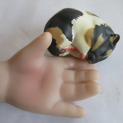 sleeping golden hamster doll figure 1/6 dollhouse pet mouse PVC toy for kid teen