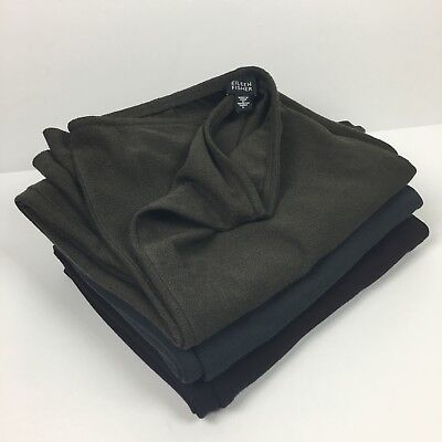 Eileen Fisher Lot of 3 Pair of Wide Leg Pants Flat Zipper Front Size Large