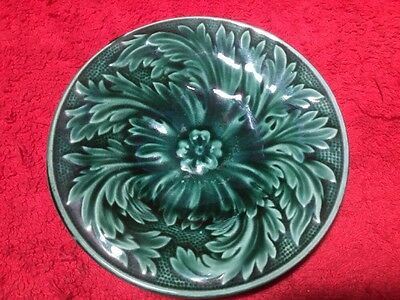 Beautiful Antique Majolica Butter Pat, fm1189  GIFT QUALITY!!
