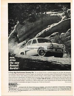 1961 Renault Gordini Automobile Car Vtg Print Ad #2