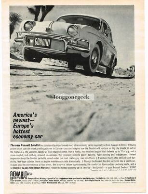 1961 Renault Gordini Automobile Car Vtg Print Ad #1