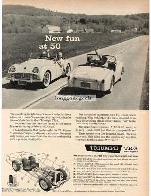 1959 TRIUMPH TR-3 Convertible New Fun at 50 VTG PRINT AD