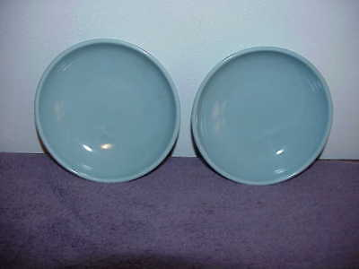 "2 Russel Wright Iroquois Casual China Ice Blue 5 5/8"" Dessert Fruit Bowls"
