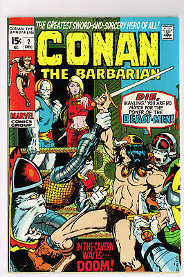 Conan The Barbarian #2 Marvel 1970 Vg Barry Smith Robert E Howard Sword Sorcery