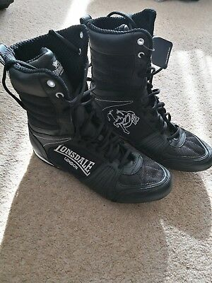 Lonsdale Contender Boxing Boots Black Size UK 6  Trainers Shoes