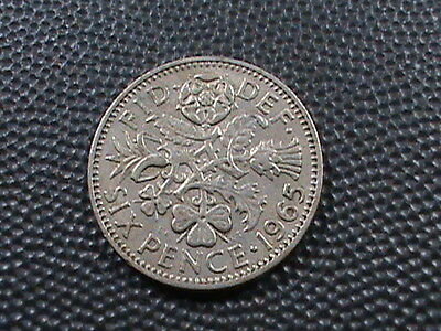 GREAT  BRITAIN    6  Pence   1965  $ 2.99 maximum shipping in USA