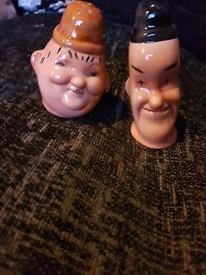 Original vintage Beswick Laurel and Hardy Salt and Pepper Set.