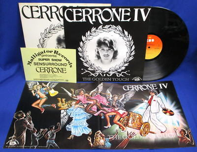 Lp Cerrone - Iv The Golden Touch // Nl Rare Complete With *** Poster + Flyer ***