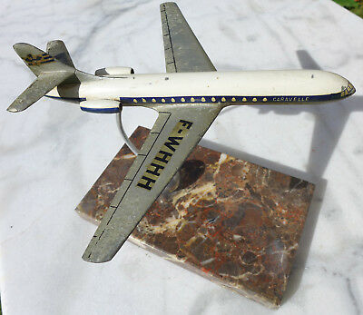 Maquette Ancienne Agence Avion Air France Air Inter Caravelle 50 Alu