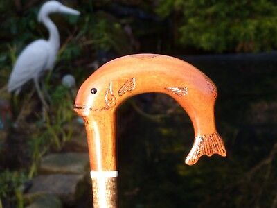 Leaping Trout Crook Walking/Hiking Stick