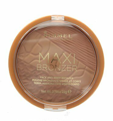 Rimmel Maxi Bronzer Face and Body Bronzing Powder - Choose Light Medium or Dark