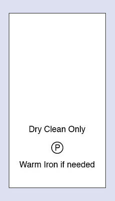 Dry Clean Only Wash Sewing Washing Care Labels 5 Pack Sizes