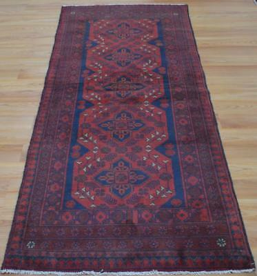 2'8x6'1 Top Quality Afghani Turkmen Khal Mohammadi Hand Knotted Wool Runner Rug