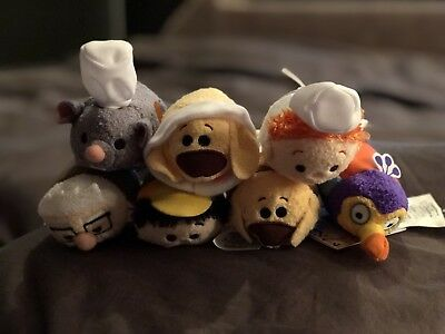 Disney Store Pixar Ratatouille and Up Tsum Tsum Full Complete 7 Set with Tags