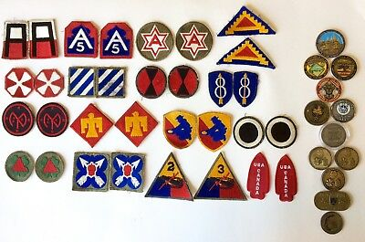 12 Military Challenge Coins, 16 Sets of Multiple Eras Military Patches in 1 Lot!