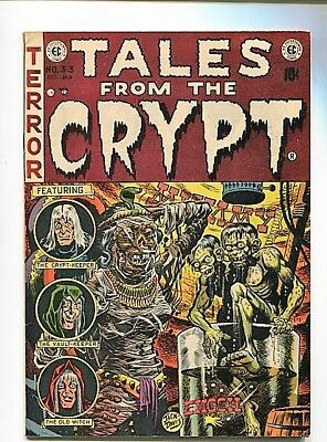 Tales From The Crypt  #33  7.5  Ow/w Pages 1953  First Crypt Keeper High Grade