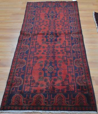2'10x6'6 Top Quality Afghani Turkmen Khal Mohammadi Hand Knotted Wool Runner Rug