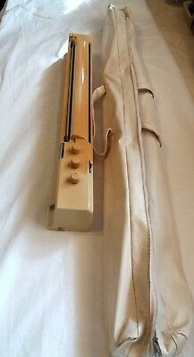Rare Silver Reed Knitmaster Knitting Machine Parts Kr7 Knit Radar + Carry Case
