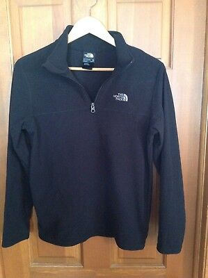 The North Face Boy's Black Pullover Fleece With Neck Zipper Size XL TG (18/20)