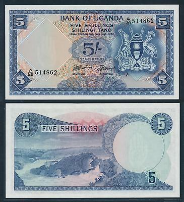 [74749] Uganda (ND) 1966 5 Shillings Bank Note UNC P1
