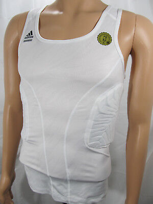 9daa062f595b59 adidas TECHFIT ClimaCOOL Padded Compression System White Mens Tank Top  88387 NWT