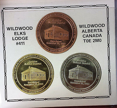 Canada Wildwood 1985 trade dollars set of three B108B