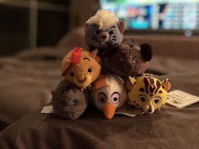 Disney Store Lion Guard Lion King Tsum Tsum Full Complete 6 Set with Tags