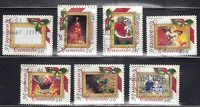 Canada 2000 #1872 Christmas Picture Postage: 7 Different Used