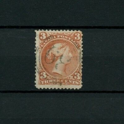 RF 5 -  3 cent Large Queen with four ring #39 Canada used