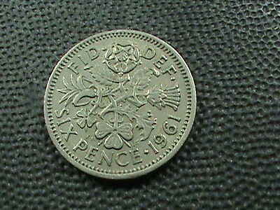 GREAT  BRITAIN    6  Pence   1961   $ 2.99 maximum shipping in USA