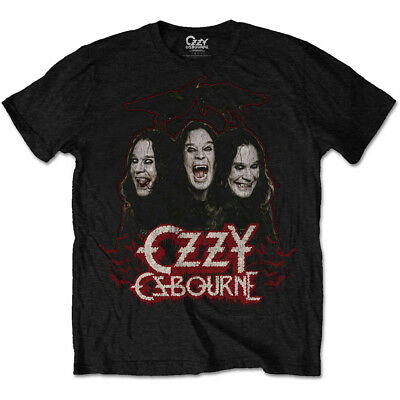 Ozzy Osbourne Crows and Bars Black Sabbath Licensed Tee T-Shirt Men