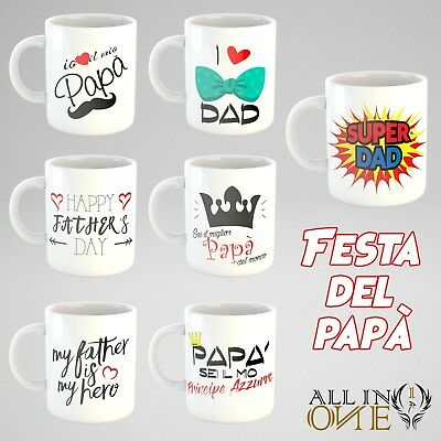 TAZZA PERSONALIZZATA MP FRASE FESTA DEL PAPA' IN CERAMICA ( mug father day )