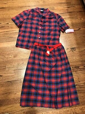 Vintage Sears Misses Two Piece Skirt Set Size 16 NWT