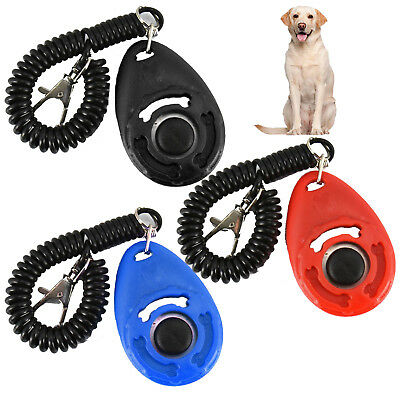 Dog Clicker Pet TRAINING Clickers/Trainer Teaching Tool/Dogs/Puppy/Young Click