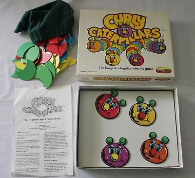 VINTAGE 1989 Spear's Games ~ CURLY CATERPILLARS Complete Made in England