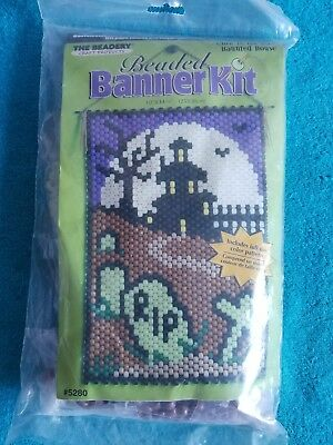 """The Beadery Beaded Banner Kit """"Glow in the Dark Haunted House"""" Craft Products"""