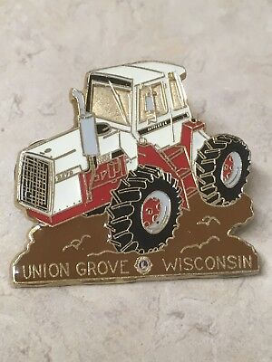 Vintage CASE IH 2470 tractor hat pin, Union Grove Wisconsin Lion's club