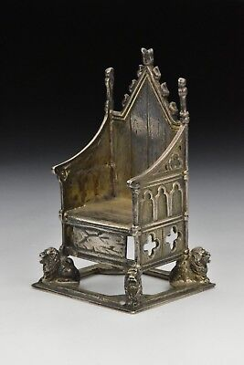 Antique English Sterling Silver Chair or Throne Charles Boyton London circa 1901