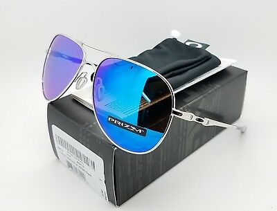 d5bd7634d2 NEW Authentic Oakley Elmont L sunglasses Chrome Prizm Sapphire blue  4119-1060