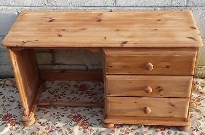 Vintage Children's Pine Study Desk Writing Drawing Table Pc Laptop Home Kids