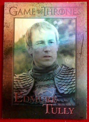 GAME OF THRONES - EDMURE TULLY - Season 3 - FOIL PARALLEL Card #77