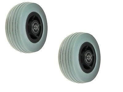 """5""""x1.75"""" Flat-Free Front Caster Wheels Assembly for Jazzy Quantum Wheelchairs"""