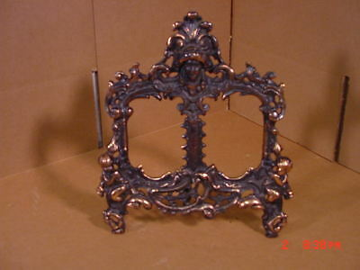 Victorian Bronze/Brass Double Picture Frame Very Ornate